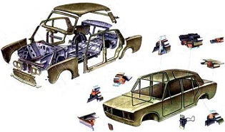 Кузовное оперение автомобиля ВАЗ 2106