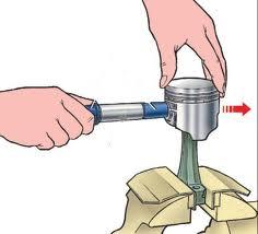 Прессование пальца на шатун