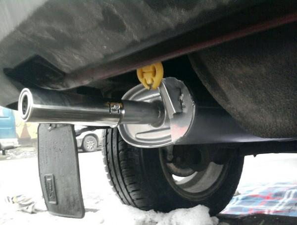 Общий вид глушителя автомобиля ВАЗ 2109