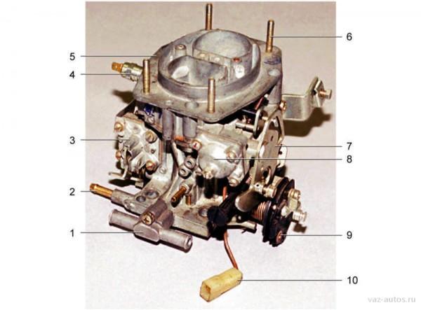 Внешний вид карбюратора автомобиля ВАЗ 21099(1)