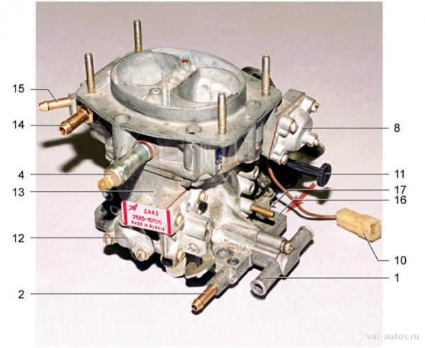 Внешний вид карбюратора автомобиля ВАЗ 21099(2)