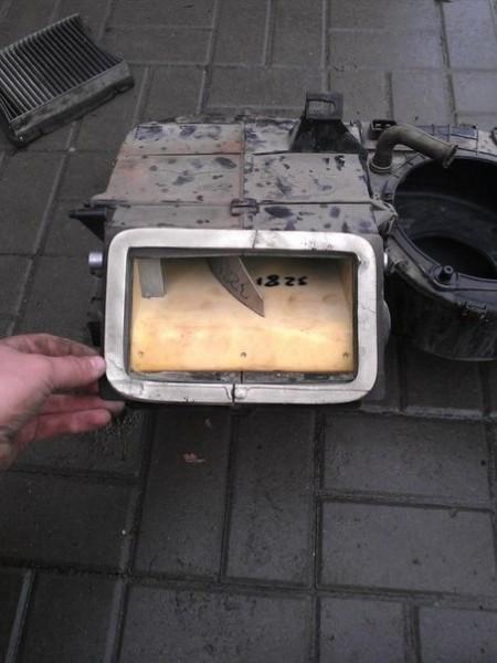 Общий вид металлической заслонки ВАЗ 2110