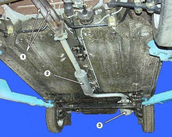 Общий вид системы отвода выхлопных газов