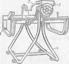 Схема поворотного устройства для разбора двигателя