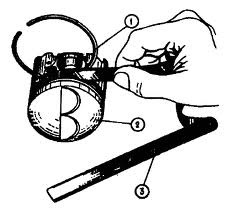 Снятие маслосъемного кольца