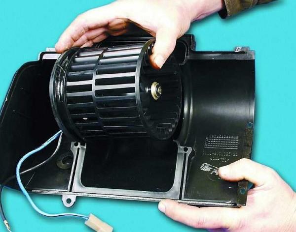 Общий вид вентилятора для отопительной системы ВАЗ 2110