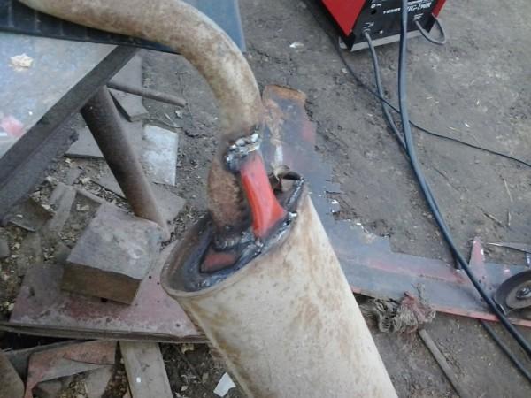Окончательный ремонт глушителя