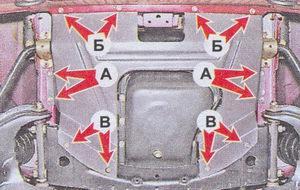 Демонтаж грязезащитного щитка автомобиля