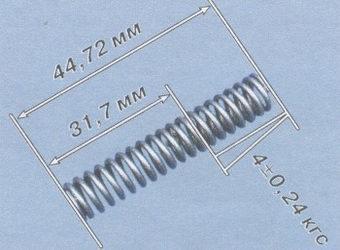 Допустимые размеры пружины редукционного клапана
