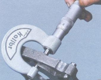 Измерение толщины ведущей и ведомой шестерни