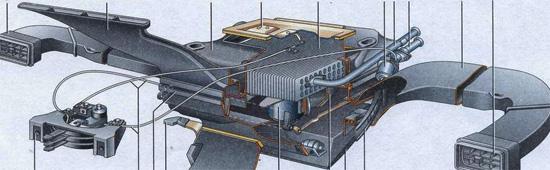 Общий вид системы отопления ВАЗ 2107