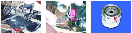 Использование съемника для откручивания масляного фильтра