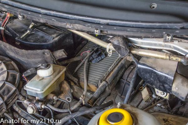 Демонтаж радиатора нового образца без разборки