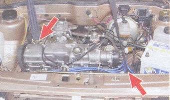 Строповка двигателя автомобиля ВАЗ 2108