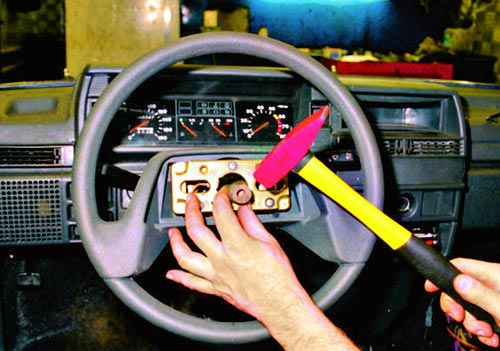 Демонтаж рулевого колеса