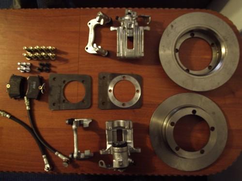 Комплект задних дисковых тормозов для ваз 2110