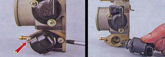 Крестовой отверткой выкручиваем винты и достаем регулятор