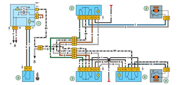 Схема включения ЭСПД дверей