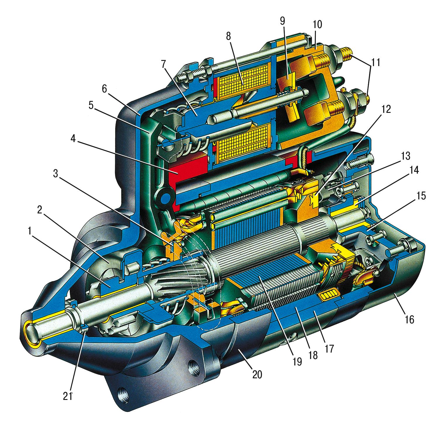 двигатель ваз 2106 схема наружная