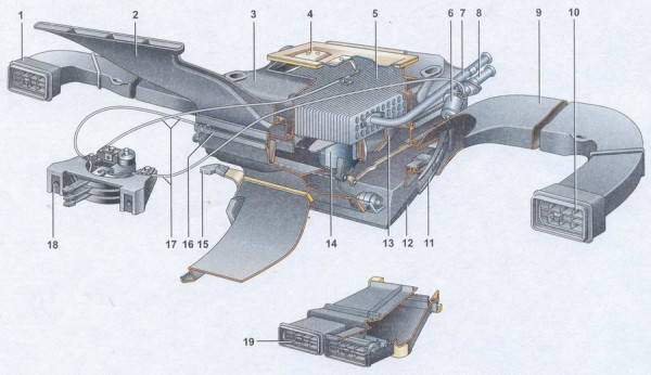 Система отопления ВАЗ 21074