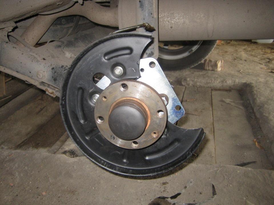 Как на ланосе сделать задние дисковые тормоза