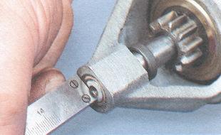 Замер осевого люфта (зазора)