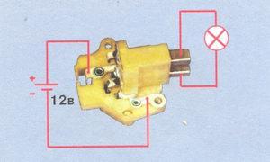 Схема проверки регулятора напряжения