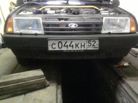 ВАЗ 2109 замена трансмиссионного масла - подготовка