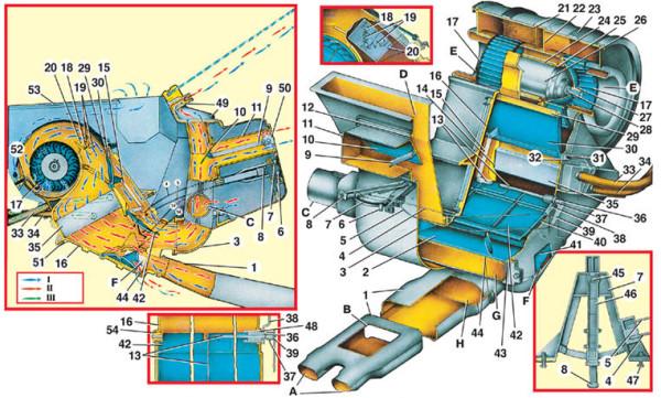 Ваз 21102 система отопления салона
