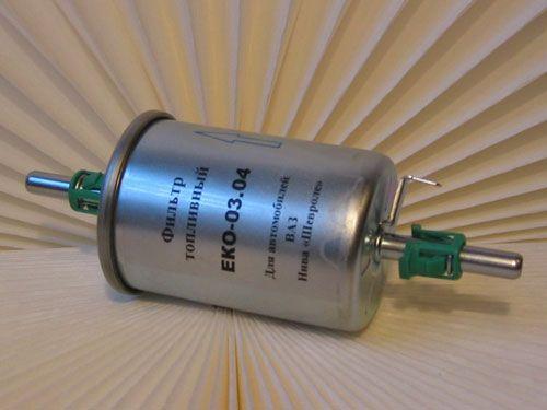 Фильтрующий элемент тонкой очистки бензина ваз 2110 с креплениями на защелках