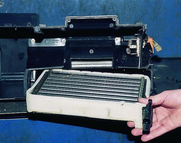 Общий вид радиатора печки авто ВАЗ 2112