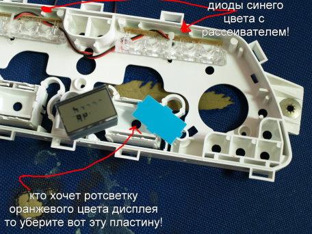 Описание тюнинга приборной панели