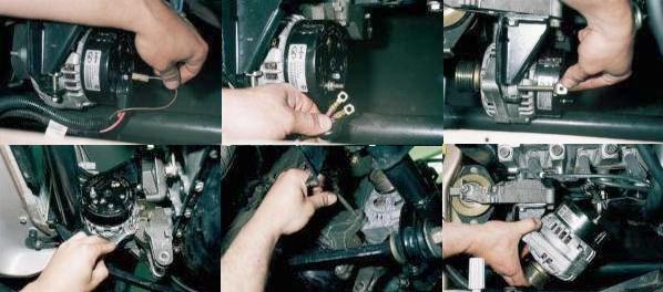 Процесс снятия генератора