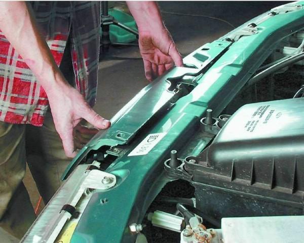 Ваз 2109 панель рамки радиатора
