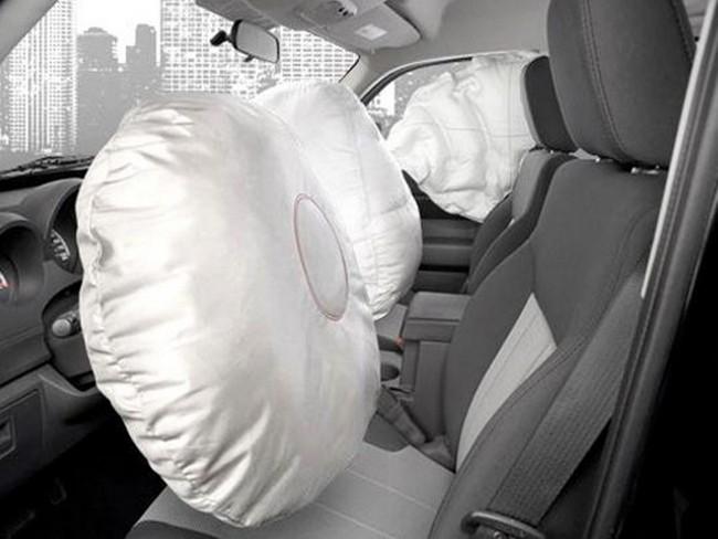 Общий вид подушек безопасности на авто ВАЗ 2110