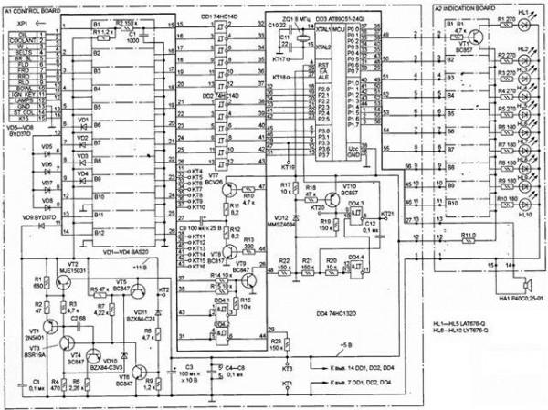 vaz 2110 shema radiatora pechki 600x449 - Схема подключения блока управления печкой ваз 2110