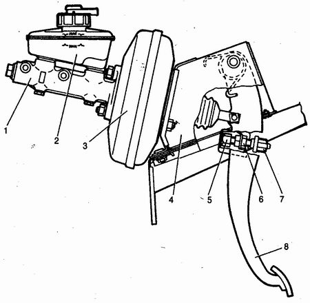 Ваз 2110 замена вакуумный усилителя тормозов