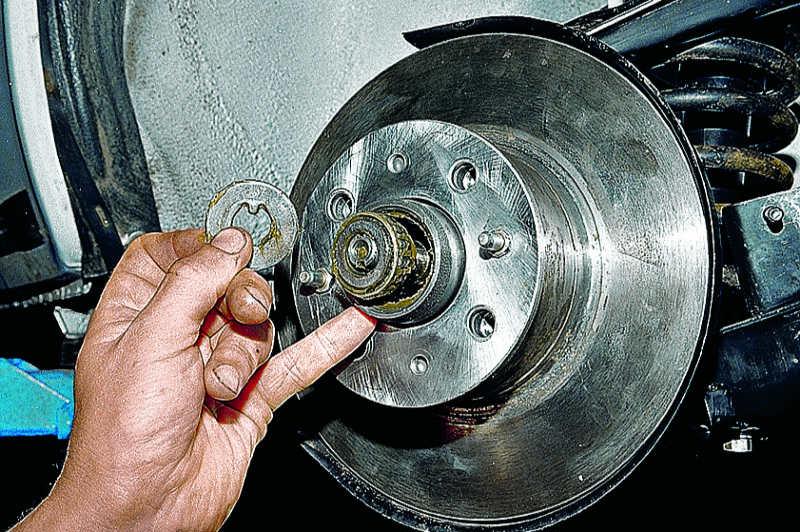 Замена подшипника ступицы переднего колеса ваз