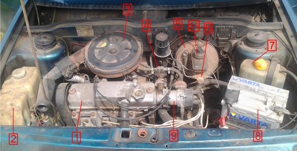 Двигатель Ваз 2109 и его перегрев