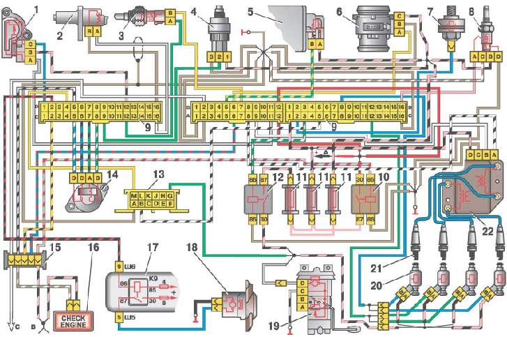2110 инжектора 8 клапан
