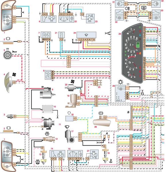 Схема электрооборудования на Ваз 2110