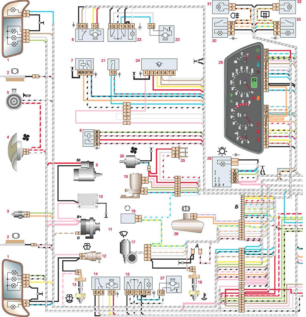 Фото №16 - схема электропроводки ВАЗ 2110