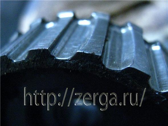 Слизанные зубья шестерни ГРМ, шестерню непременно нужно менять
