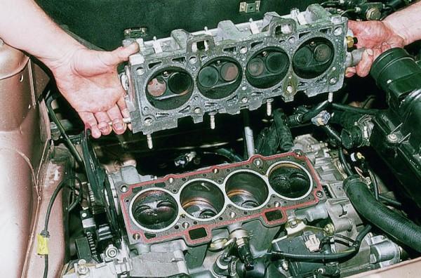 Снятие и разбор двигателя