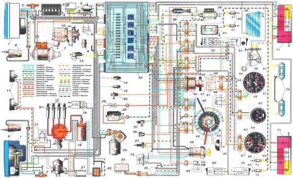 Электропроводка ваз 2110 инжектор 16 клапанов