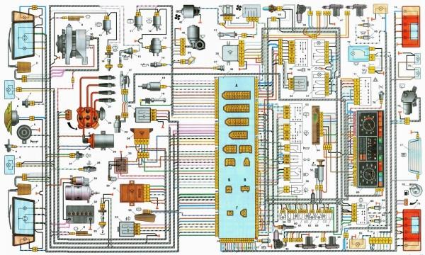 Ваз 2110 схема электропроводки