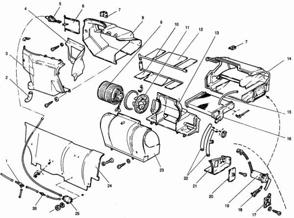 Ваз 2110 управление системой отопления