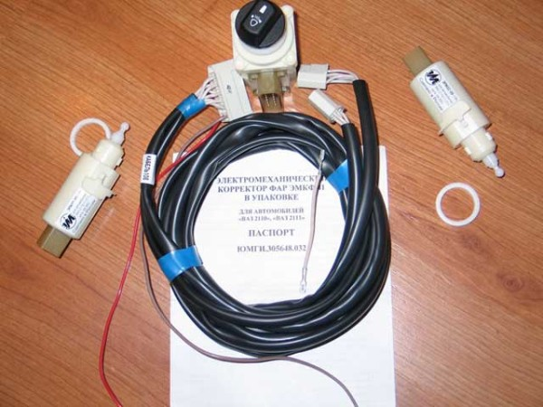 Ваз 2110 установка гидрокорректора фар