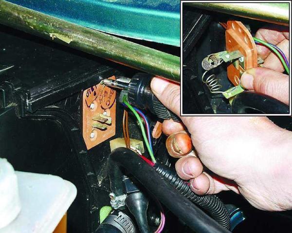 Ваз 2110 замена резистора печки