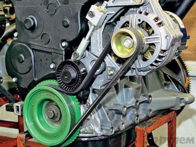 Ваз 21124 замена ремня генератора с гур